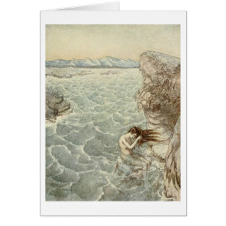 Bathing in the Sea Card