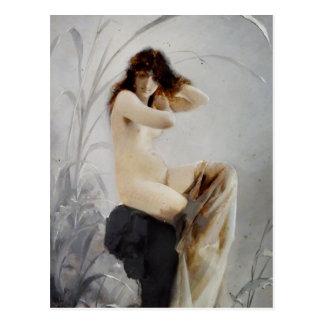Bathing Nymph - Falero Postcard