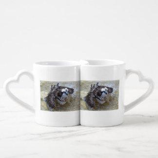 Bathing Osprey Couple Mugs