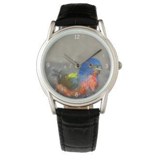 Bathing Painted Bunting (Passerina Ciris) Birder's Wrist Watches