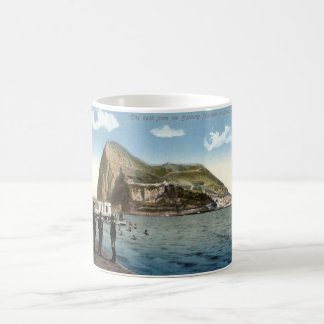 Bathing Pavilion, Linea, Rock of Gibraltar Vintage Coffee Mugs