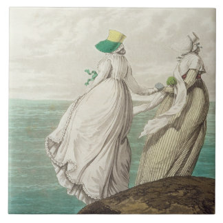 Bathing Place, from 'Gallery of Fashion', 1797 (co Ceramic Tile
