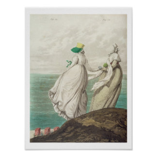 Bathing Place, from 'Gallery of Fashion', 1797 (co Poster