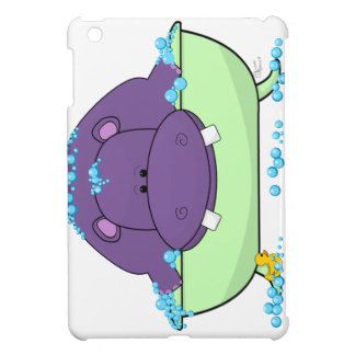Bathing Purple Hippo iPad Mini Cover