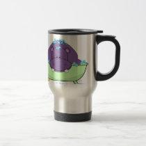 Bathing Purple Hippo Travel Mug