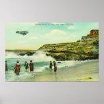 Bathing Scene at La Jolla BeachSan Diego, CA Posters