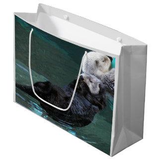 Bathing Sea Otters Photo Large Gift Bag