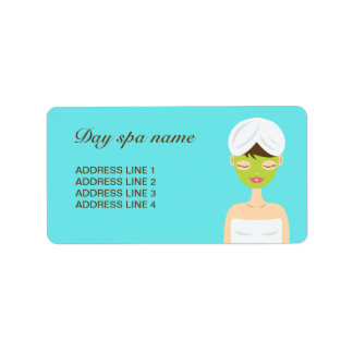 Bathing Spa Woman With A Green Face Mask Label