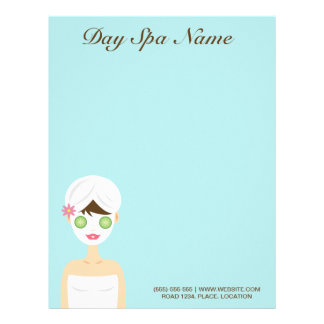 Bathing Spa Woman With A White Face Mask Letterhead