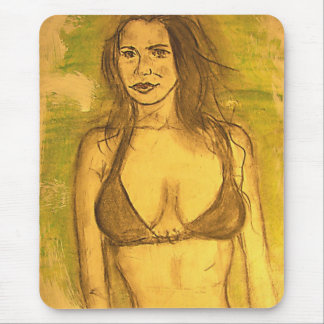 bathing suit girl art mouse pad