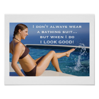 Bathing suit poster