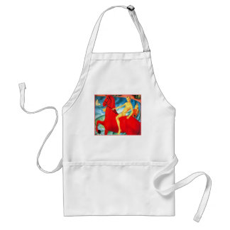"""""""Bathing the Red Horse"""" Adult Apron"""