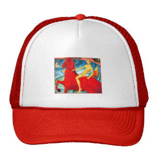"""""""Bathing the Red Horse"""" Trucker Hat"""