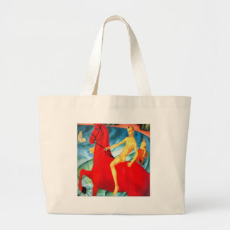 """""""Bathing the Red Horse"""" Large Tote Bag"""