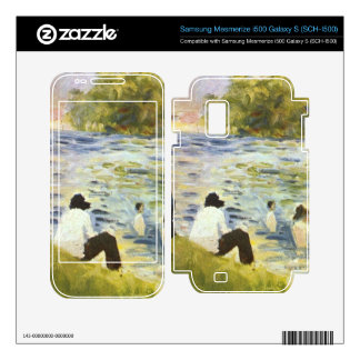 Bathing with a white horse in the river by Seurat Samsung Mesmerize Decals