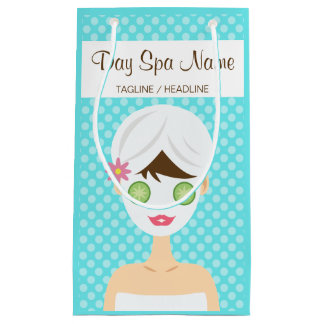 Bathing Woman With A Face Mask Day Spa Small Gift Bag