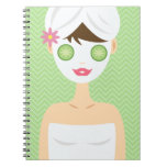 Bathing Woman With A White Face Mask Spiral Notebooks