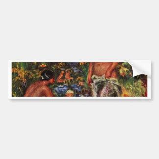 Bathing Women By Pierre-Auguste Renoir Bumper Sticker