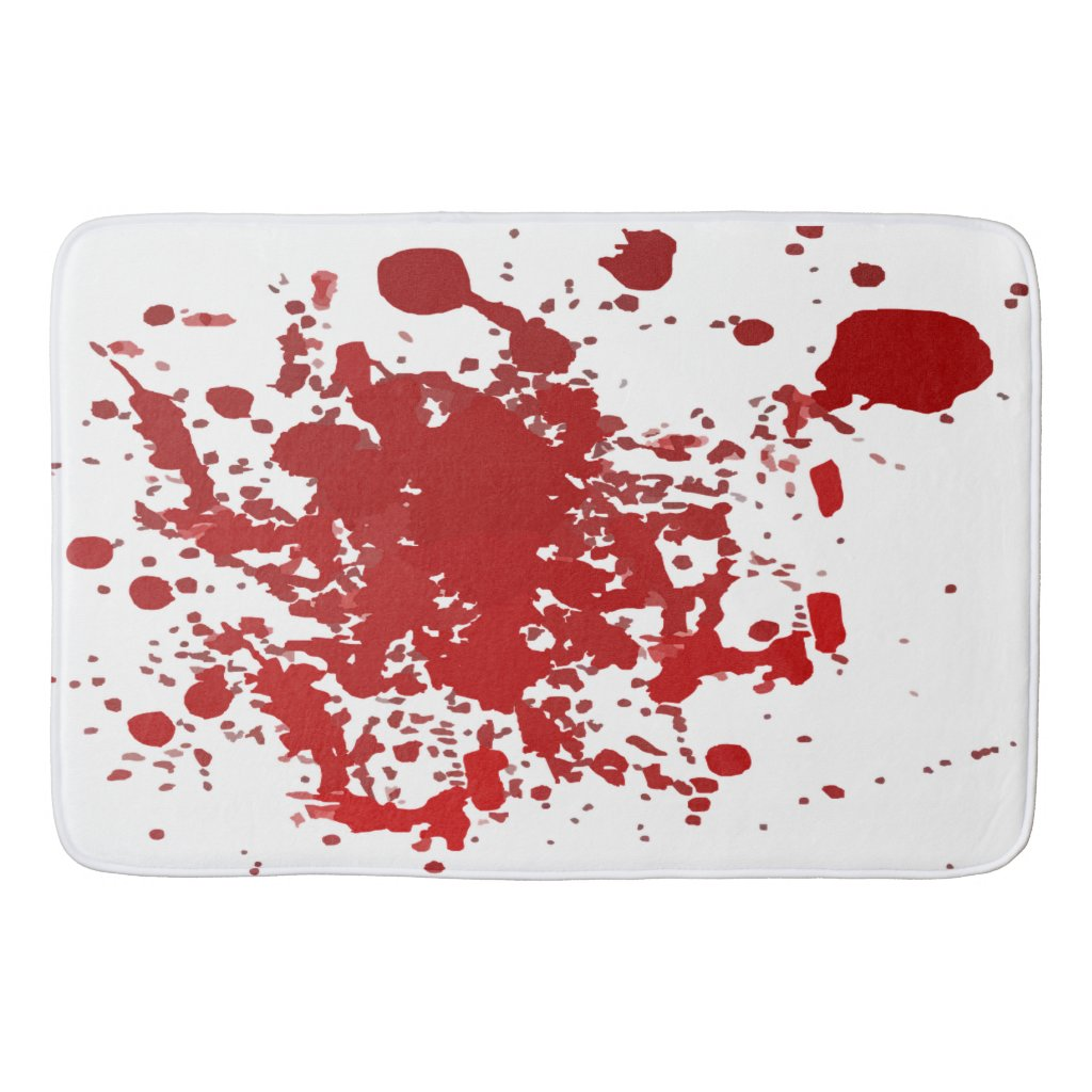 Blood Splatter Bathroom Rug for Halloween Decor