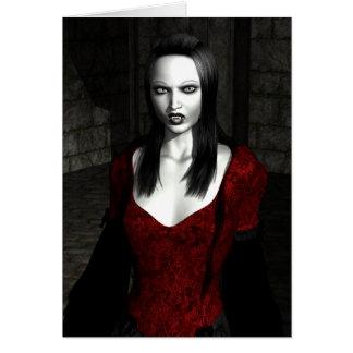 Bathory Gothic Art Greeting Card