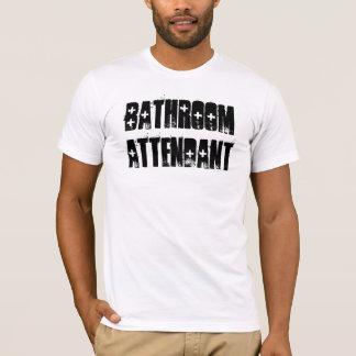 Bathroom Attendant_Cool Font_Crap Job T-Shirt