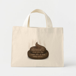 Bathroom Blessing: Don't Step in Poop Twice Canvas Bags