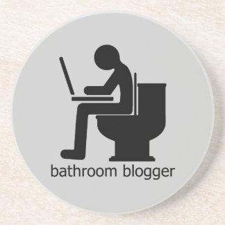 Bathroom Blogger Black Drink Coaster