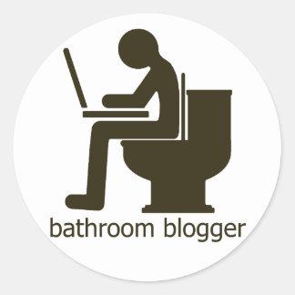 Bathroom Blogger Griege Classic Round Sticker