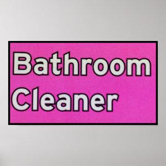 BATHROOM CLEANER POSTER