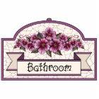 """Bathroom"" - Decorative Sign - 45 Cutout"