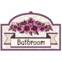 """Bathroom"" - Decorative Sign - 45 Cutout"