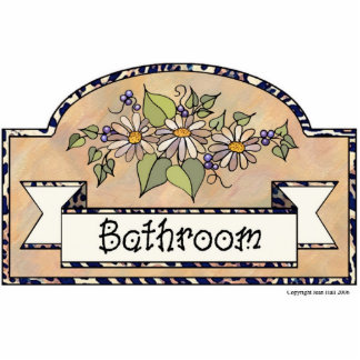 """Bathroom"" - Decorative Sign Cut Out"