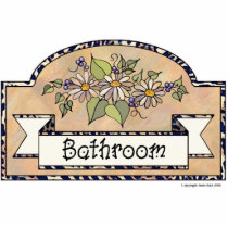 """Bathroom"" - Decorative Sign Statuette"