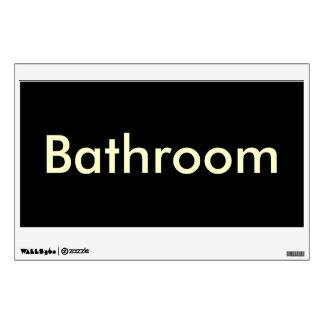 Bathroom Door Sign-Temporary Reusable Wall Skins
