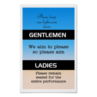 Bathroom Etiquette bathroom humor posters | zazzle