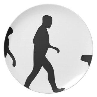 bathroom evolution dinner plate