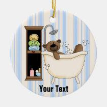 bathroom, ornament, decor, birthday, christmas, bear, bears, Ornament with custom graphic design