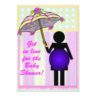 Bathroom Icon Baby Shower template Card