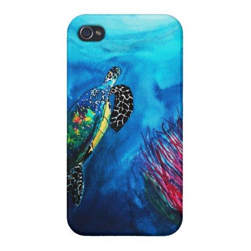 Bathroom ocean ,Oceanic Life, Animal ocean Case For iPhone 4
