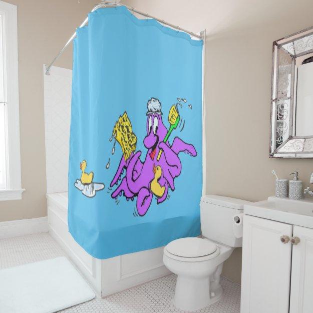 Bathroom Octopus Customizable Shower Curtain
