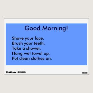 Bathroom Routine Activity Checklist (for Men) Wall Sticker