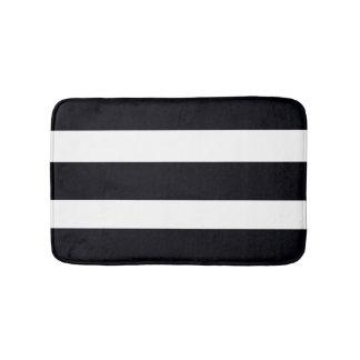 BATHROOM RUGS   MATS Bath Mat Black White Stripes. Black And White Bath Mats   Zazzle