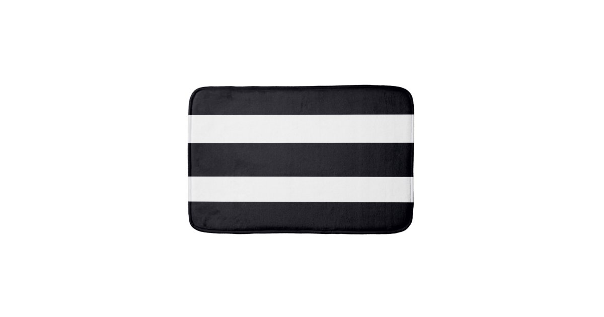Black and white striped bath rug Black and white striped rug