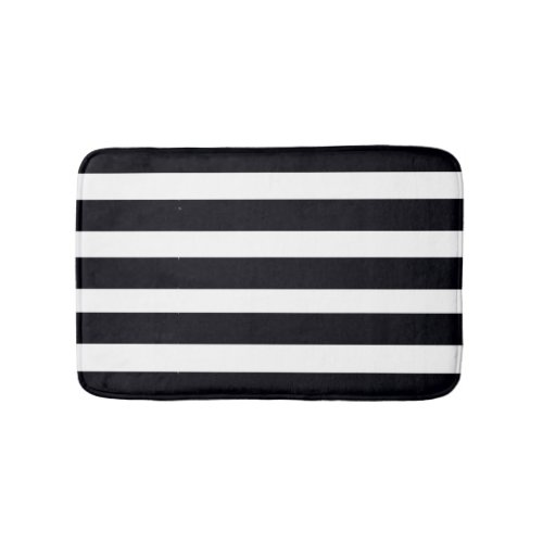 BATHROOM RUGS & MATS Bath Rugs Black White Stripes