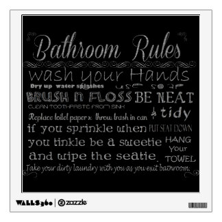 Bathroom Rules Room Graphic