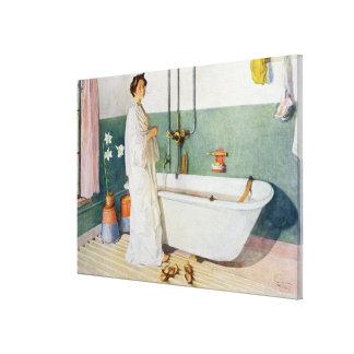 Bathroom Scene - Lisbeth, pub. in 'Lasst Licht Hin Canvas Print