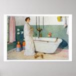 Bathroom Scene - Lisbeth, pub. in 'Lasst Licht Hin Poster