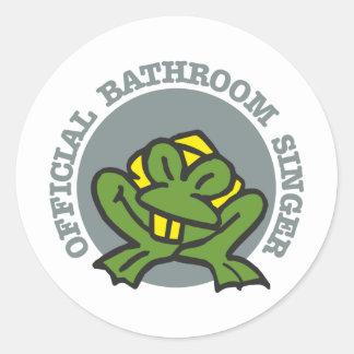 bathroom singer classic round sticker