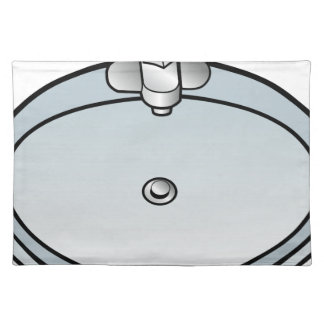 Bathroom Sink Drawing Cloth Placemat