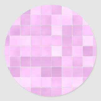 Bathroom Tiles Pink Classic Round Sticker